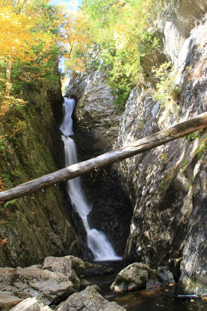 Lower Dunn Falls in Oxford County Maine