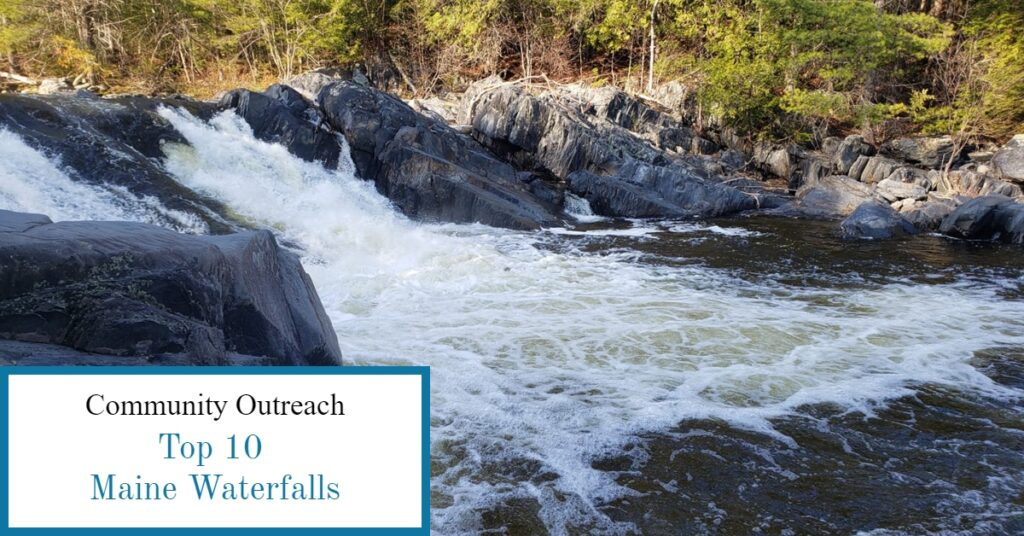 Tobey Falls in Willimantic, ME Piscataquis County